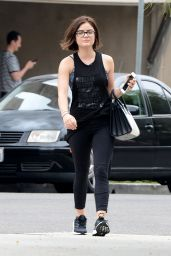 Lucy Hale - Leaving ENails in West Hollywood, June 2015