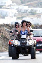 Lucy Watson - On Vacation in Mykonos, Greece, June 2015