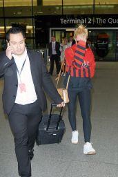 Margot Robbie Airport Outfit - Heathrow, June 2015