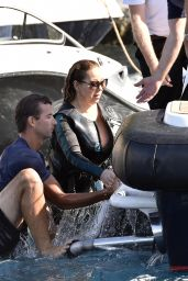 Mariah Carey - Wearing a Wetsuit in Italy - June 2015