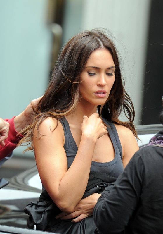 Megan Fox on the Set of 'Teenage Mutant Ninja Turtles 2′ in NYC, June 2015