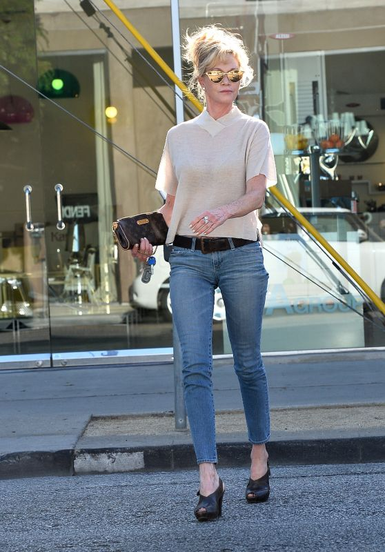 Melanie Griffith in Jeans - Out in West Hollywood, June 2015