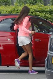 Melanie Sykes - Leaving the Gym in London, April 2015