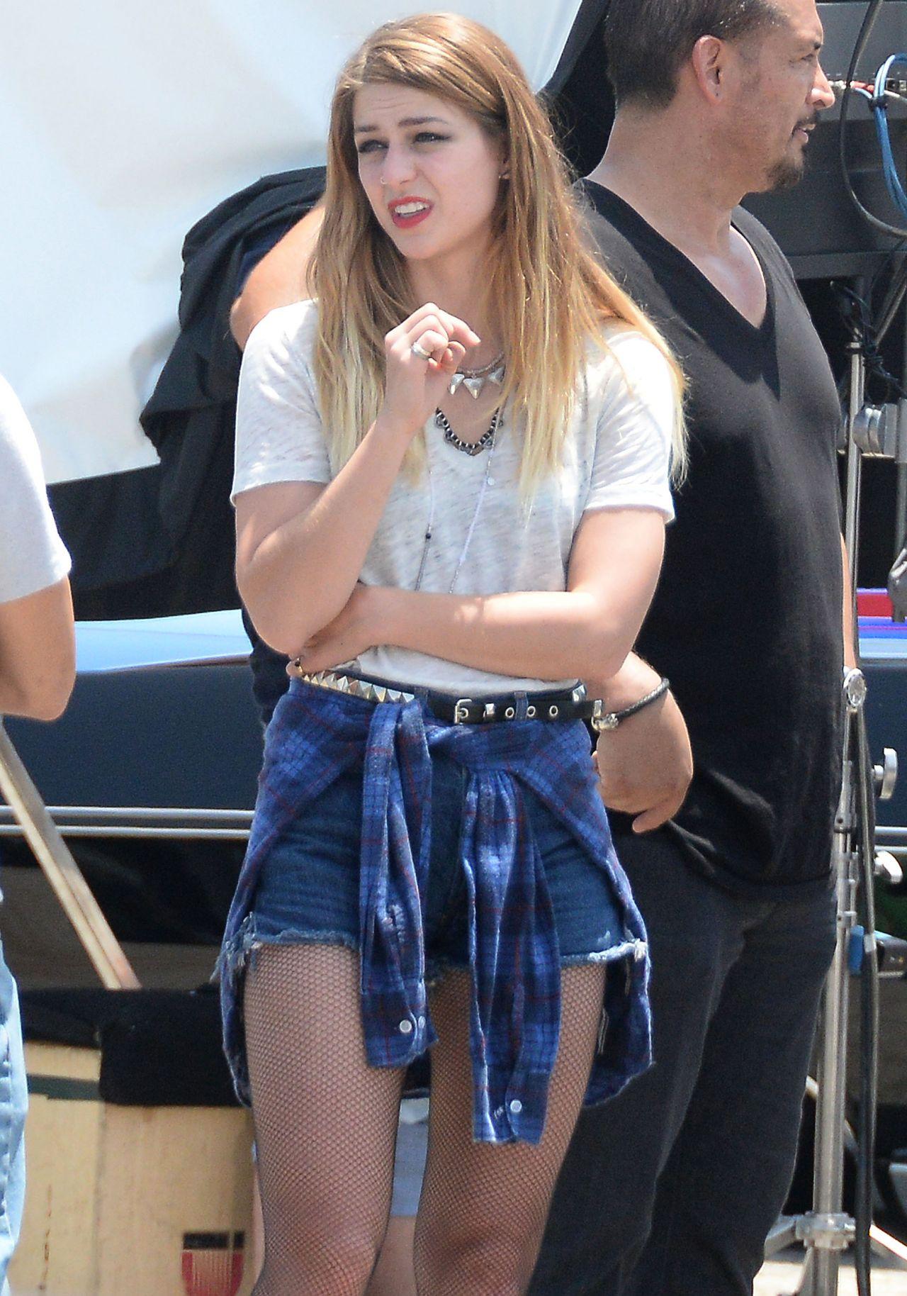 Melissa Benoist On The Set Of Low Riders In Los Angeles June 2015