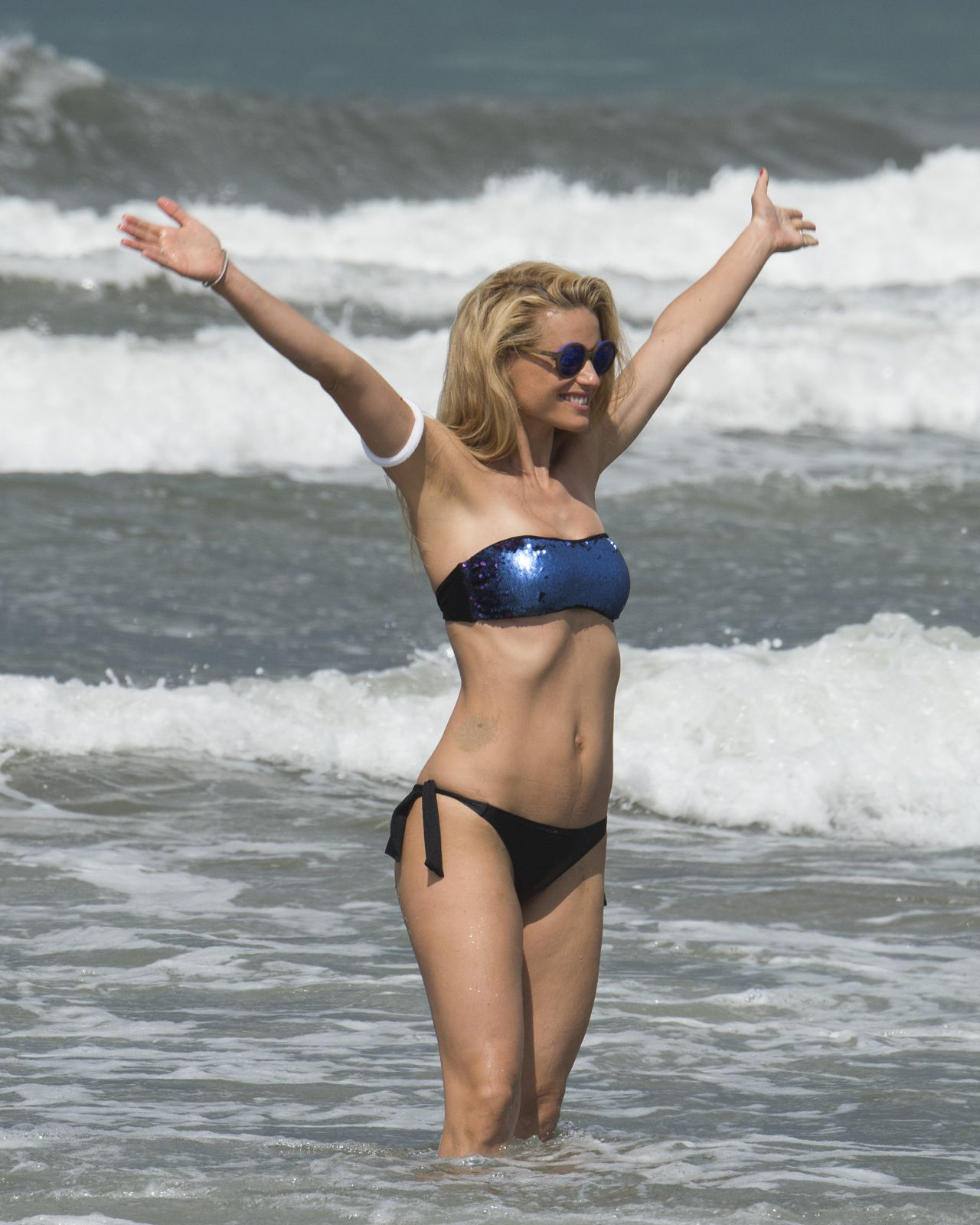 Michelle Hunziker in a Bikini – Beach in Italy, June 2015