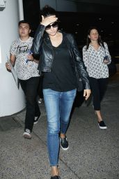 Mila Kunis Airport Outfit - LAX, June 2015