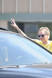 Miley Cyrus Casual Style - Out in LA, June 2015