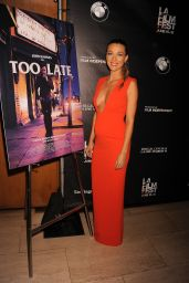 Natalie Zea - Too Late Premiere at LA Film Festival