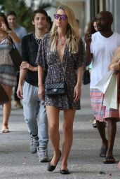 Nicky Hilton Shopping With a Friend at Bal Harbour Mall in Miami, June 2015