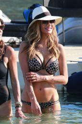 Nicole Scherzinger Bikini Pics - Beach in Mykonos, June 2015