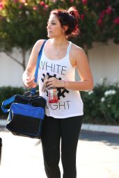 Paris Jackson in Leggings - Leaving the Agoura Fitness Gym, June 2015