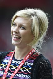 Rachel Riley - Manchester United Legends Charity Match at Old Trafford, June 2015
