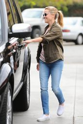 Reese Witherspoon in Jeans - Stops for Gas in Brentwood, June 2015