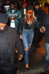 Rihanna in Ripped Jeans - Out in New York City, June 2015