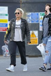 Rita Ora Casual Style - Leaving