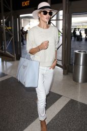Rosie Huntington-Whiteley Airport Outfit - at LAX in Los Angeles, June 2015