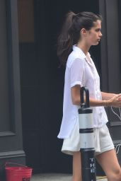 Sara Sampaio - Leaving Her Hotel in NYC, June 2015