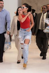 Selena Gomez in Ripped Jeans - NYC, June 2015