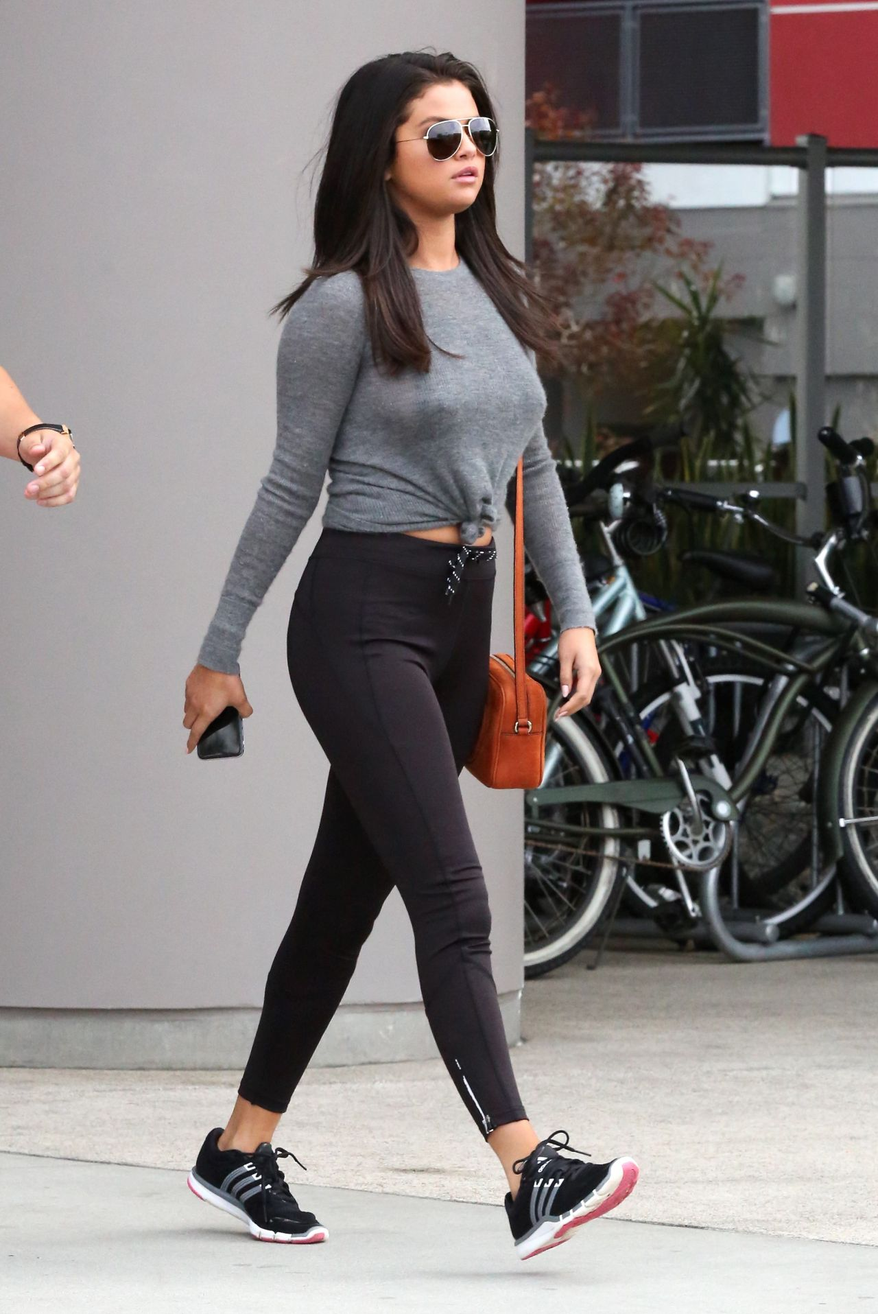 Selena Gomez in Tights - Leaving a Gym in West Hollywood ...
