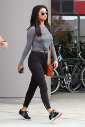 Selena Gomez in Tights - Leaving a Gym in West Hollywood, June 2015