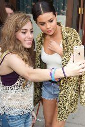 Selena Gomez Leggy in Jeans Shorts - New York City, June 2015