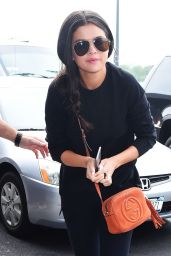 Selena Gomez Summer Airport Outfit - JFK Airport in NYC, June 2015