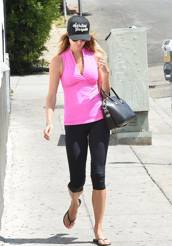 Stacy Keibler in Leggings - Out in Los Angeles, June 2015
