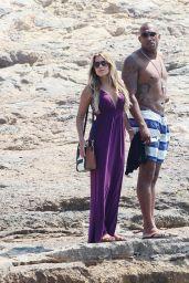 Sylvie Meis in a Bikini - With Boyfriend in Formentera, June 2015
