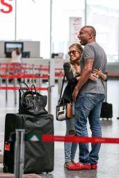 Sylvie Meis With Friend Momo at Airport in Zürich, June 2015