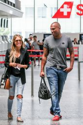 Sylvie Meis With Friend Momo at Airport in Zürich, June 2015