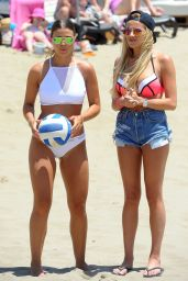 TOWIE Girls - Playing a Game of Beach Volleyball in Marbella, June 2015