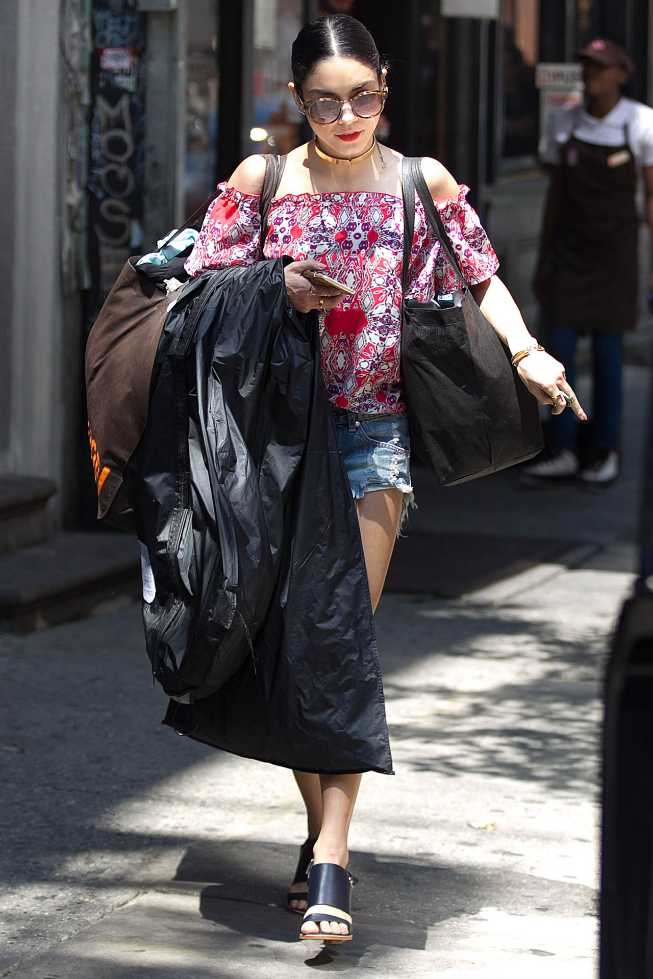 Vanessa Hudgens Street Style Leaving Her Apartment In Nyc June 2015