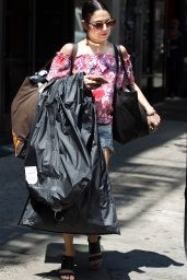 Vanessa Hudgens Street Style - Leaving Her Apartment in NYC, June 2015