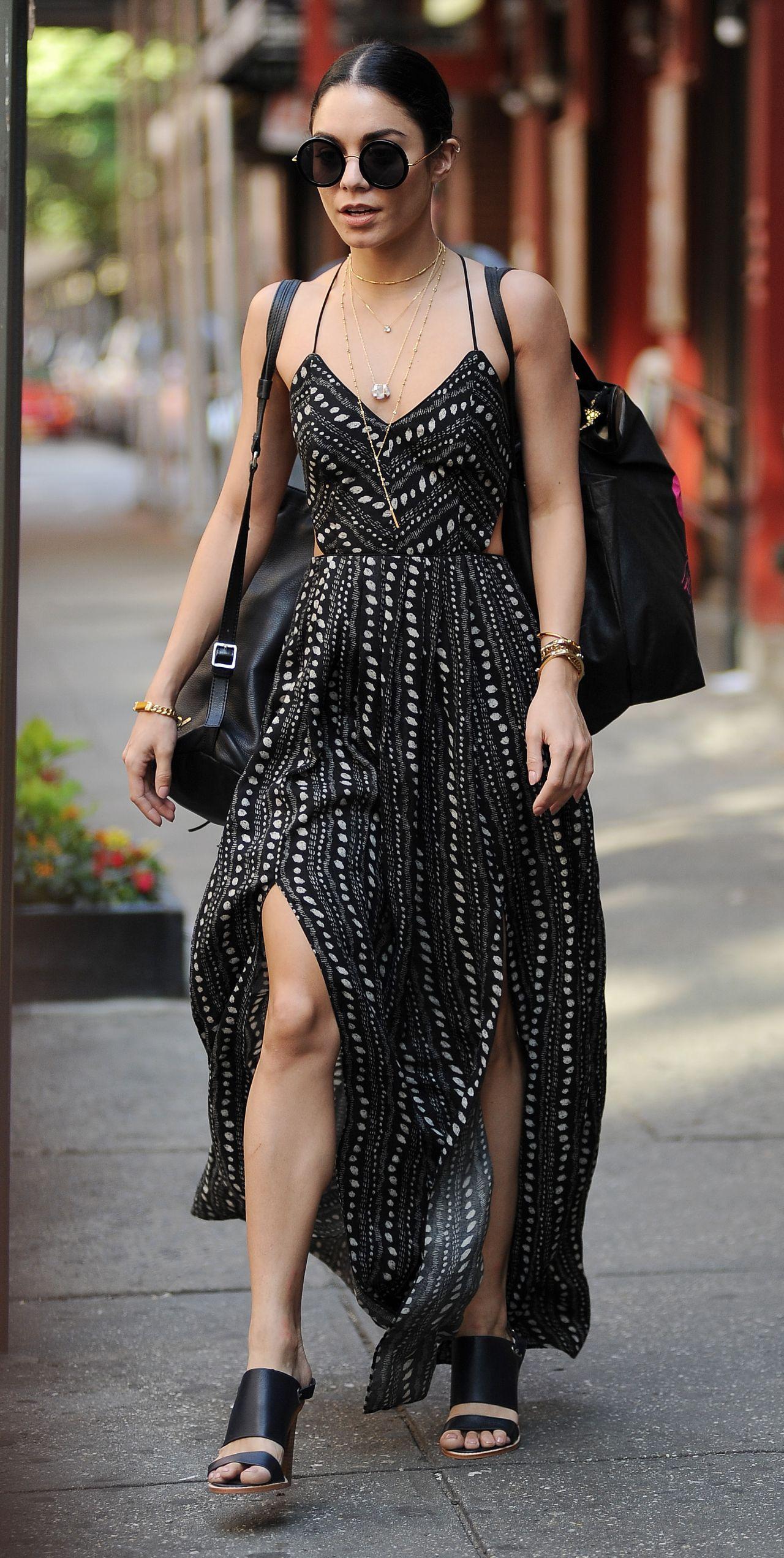 Vanessa Hudgens Style Leaving Her Apartment In Soho June 2015