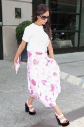 Victoria Beckham Street Style - Leaving Her Hotel in New York City, June 2015