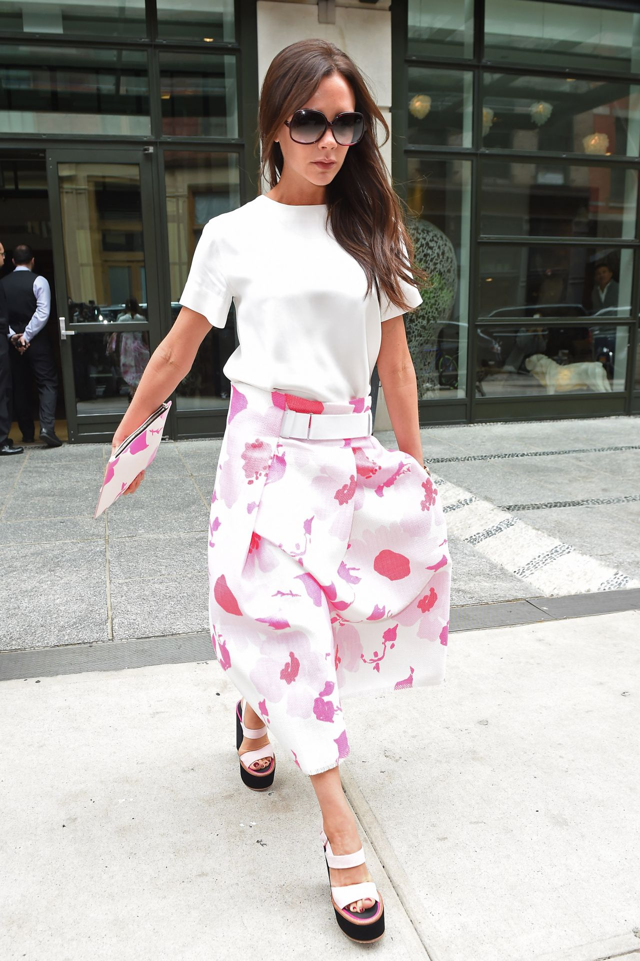 Victoria Beckham Street Style Leaving Her Hotel In New
