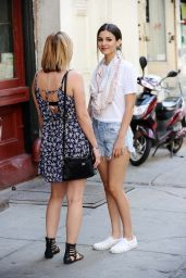 Victoria Justice in Cutoffs - New York City, June 2015
