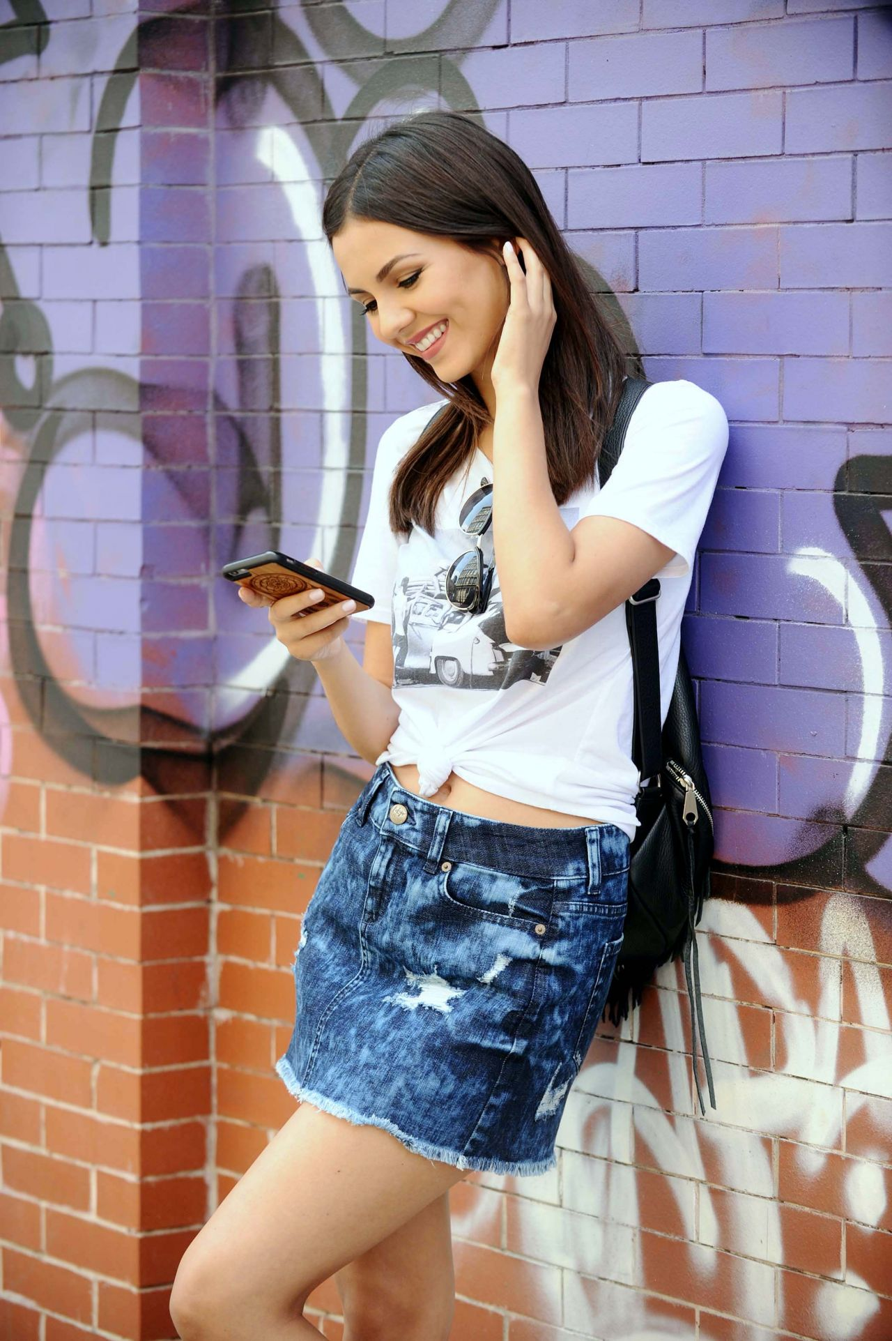 Victoria Justice In Mini Skirt Nyc June 2015