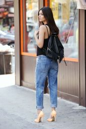 Victoria Justice in Ripped Jeans - New York City, June 2015