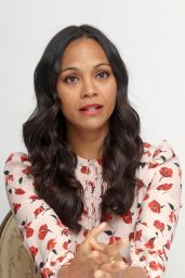 Zoe Saldana - Infinitely Polar Bear Press Conference in Beverly Hills