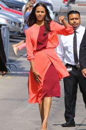 Zoe Saldana - Jimmy Kimmel Live in Hollywood, June 2015
