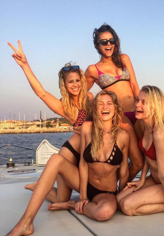 Nina Dobrev Social Media Pics - Ibiza, July 2015