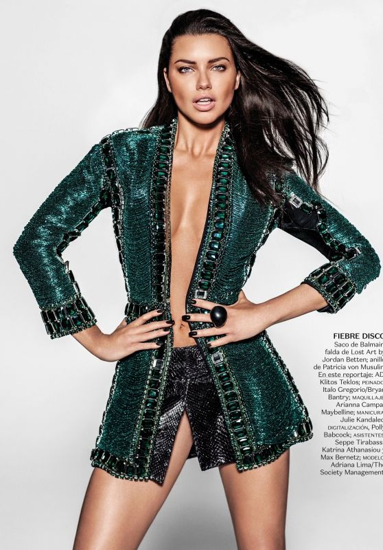 Adriana Lima - Vogue Magazine Mexico - July 2015 Issue