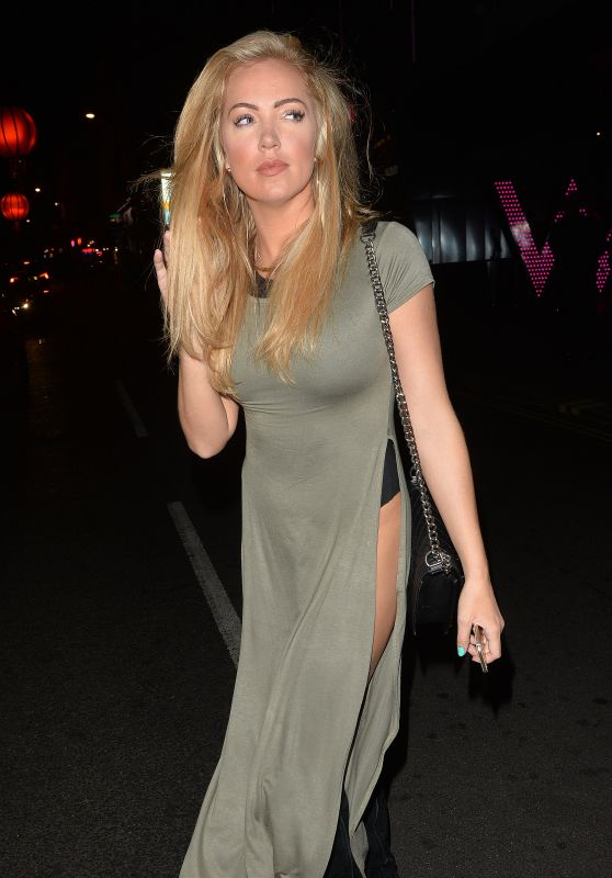 Aisleyne Horgan-Wallace - Outside her Hotel in London, July 2015
