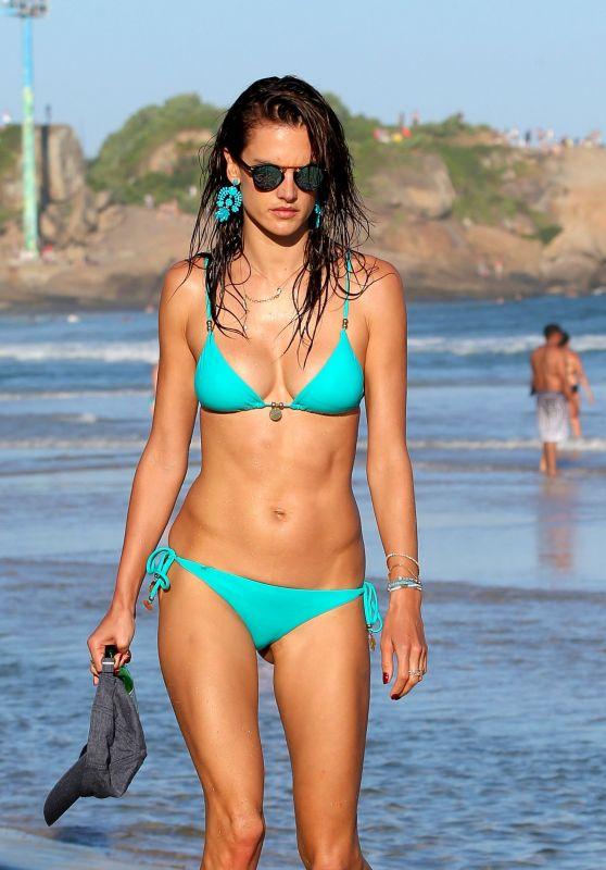 Alessandra Ambrosio Bikini Images - Rio, July 2015