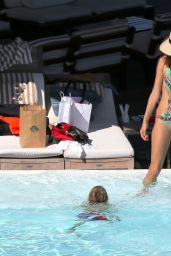 Alessandra Ambrosio in a Swimsuit - at a Pool in Rio, July 2015