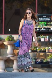 Alessandra Ambrosio in Summer Dress - Grocery Shopping in Santa Monica, July 2015