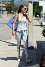 Alessandra Ambrosio Street Style - Out in Brentwood, July 2015