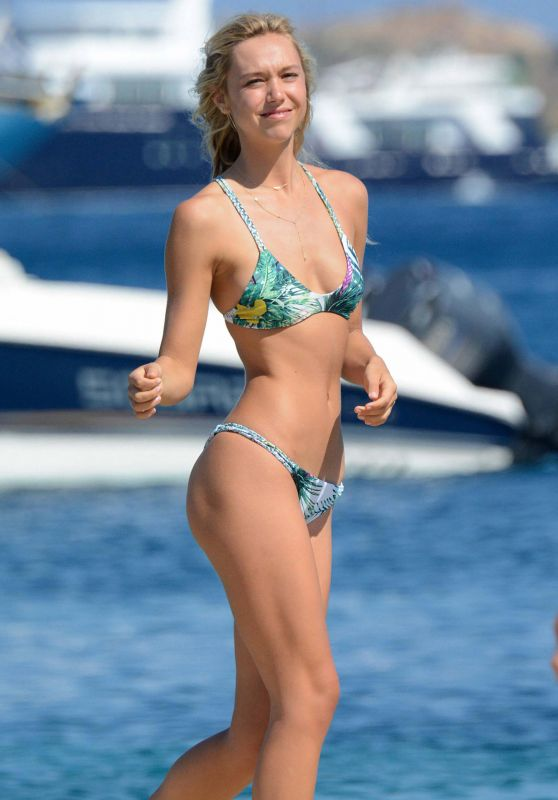 Alexis Ren Bikini Candids - Mykonos Greece, July 2015