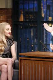 Amanda Seyfried at Late Night with Seth Meyers, June 2015